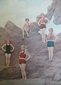 1920s vintage fashion swimsuits