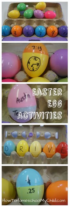 learning games for kids - easter egg activities from How to Homeschool My Child.com