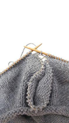 Helppo ohje paidan neulomiseen. Ylhäältä alas neulottu paita. Helppo ohje. Knitting Projects, Maybelline, Knitted Hats, Crochet, How To Make, Handmade, Accessories, Scarfs, Tutorials