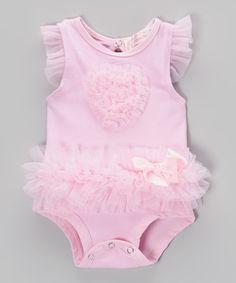 Look what I found on #zulily! Pink Ruffle Bodysuit  by Popatu by Posh #zulilyfinds