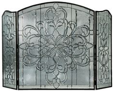 "Meyda 70""W X 46""H Blossom Bevel Fireplace Screen"