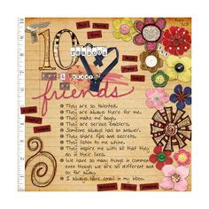 Why I heart my friends - Scrapbookgraphics.com Gallery found on Polyvore