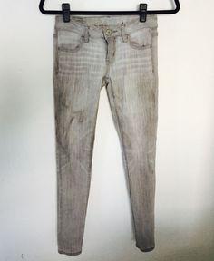 American Eagle Jegging Jeans Stretch Gray Jean  0 #AmericanEagle #Jegging