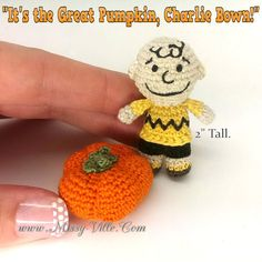 Charlie Brown Great Pumpkin  2 Tall.  OOAK Custom by MissyVille
