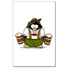 Oktoberfest Boy Penguin Posters