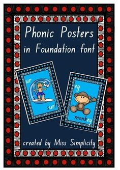 Classroom Phonic Display Charts / Posters 41 colour posters A4 in size Print off, laminate and display.