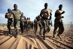Senegalese peacekeepers with the African Union-United Nations Hybrid Operation in Darfur (UNAMID) train at their team site in Um Baro, North Darfur, Sudan. 420 Senegalese troops are posted to Um Baro and provide security for the area.  Photo ID 494840. 14/11/2011. Um Baro, Sudan. UN Photo/Albert Gonzalez Farran. www.unmultimedia.org/photo/