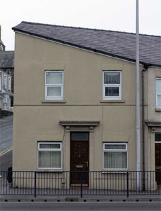 A house that looks like Hitler in Swansea, Wales, England!