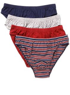 4 Pack Red Design Slips - socks   underwear - Men e777bb0237