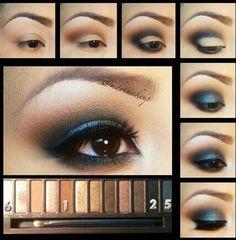 smoky .blue. eye shadow