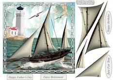Sail Away Card Topper with Decoupage on Craftsuprint - Add To Basket!