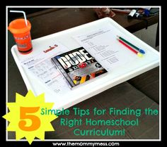 5 Tips for Finding the Right homeschool Curriculum @Adrienne {The Mommy Mess}
