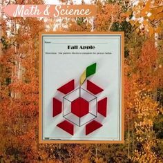 Engage your students with this fun and creative way to learn about shapes and symmetry while exploring the Seasons. By A Thinkers Toolbox Learning Methods, Kids Learning, Classroom Activities, Fun Activities, Outdoor Fun For Kids, Fall Months, Autumn Theme, Toolbox, Pattern Blocks