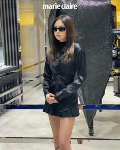 Kpop Girl Groups, Korean Girl Groups, Kpop Girls, Kim Jennie, Rapper, Leather Skirt, Leather Jacket, Lady And Gentlemen, Korean Singer