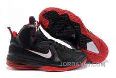 0784b492df4 Nike Lebron 9 Black White Sport Red DKJS2500