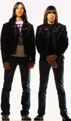 CJ and Johnny Ramone photographed by George Dubose