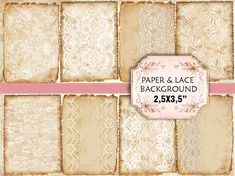 vintage lace background | Old paper Lace Vintage Backgrounds Shabby chic paper Scrapbook ...