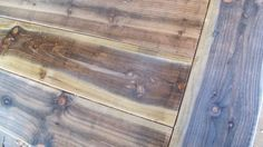 DIY - natural weathered stained tables