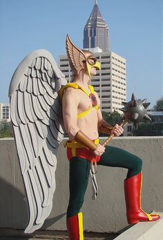 Hawkman, cosplayed by loganallenwolf