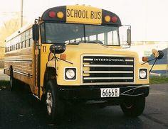 Old School Bus, School Buses, Vintage School, Busses, Trucks, Medium, Yellow, Food, Essen