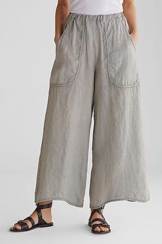 Women Linen Pants Casual Pockets Summer Plus Size Pants Sexy Bluse, Mode Pop, Linen Dresses, Wide Leg Pants, Loose Pants, Women's Pants, Yoga Trousers, Cropped Trousers, Harem Pants