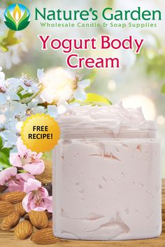 Free Yogurt Body Cream Recipe by Natures Garden