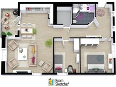 With RoomSketcher Pro, you can customize the wall settings on your 3D Floor Plans. Choose your wall finishes, wall cut height and even the color for the tops of the walls. To learn more: http://www.roomsketcher.com/features/pro-features/customize-3d-floor