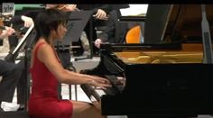 Accompanied by the Finnish Radio Symphony Orchestra, the Chinese classical pianist Yuja Wang performs Tchaikovsky's Piano Concerto No. 1.