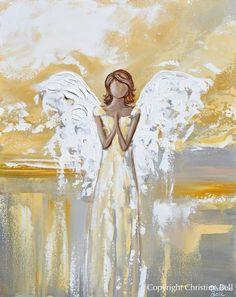 Texture Art, Texture Painting, Original Paintings For Sale, Original Art, Angel Artwork, Angel Paintings, Spiritual Paintings, Jesus Painting, Acrylic Paintings