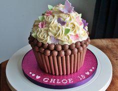 Teenager's Giant Cupcake cake