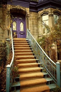 """montreal-photos: """" swimming in their soft colours… """" Quebec Montreal, Montreal Ville, Quebec City, Montreal Architecture, Architecture Details, O Canada, Canada Travel, Stairs And Doors, Voyage Canada"""
