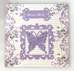 Card Making Project - Amethyst Butterfly Card