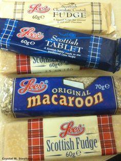 Scottish Candy, thats sweets in English :-) There is nothing more delicious than Scottish Tablet!!