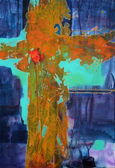 Olga Ivanova The Heartbeat, 70cmx100cm, akryl, płótno, 2014.