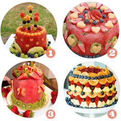 Tartas hechas de frutas frescas, perfectas para los cumpleaños del verano
