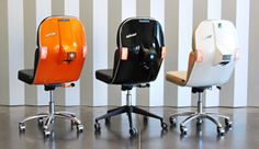 Bel&Bel Scooter Chair is made from original parts of the legendary Italian scooter from the 80's. https://www.mobmasker.com/belbel-scooter-chair-is-made-from-original-parts-of-the-legendary-italian-scooter-from-the-80s/