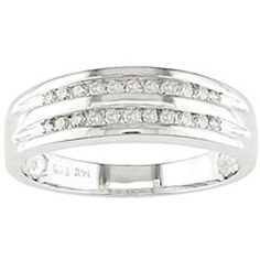 Miadora 10k White Gold 1/5ct TDW Diamond Ring (I-J,I2-I3) (Size 7), Women's