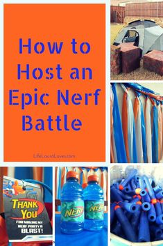 Have a kiddo who loves Nerf? Ill show you what I did to throw an epic Nerf battle! The kids will have fun and you will too! - Nerf Gun - Ideas of Nerf Gun Nerf Birthday Party, Nerf Party, 10th Birthday, Birthday Ideas, Sports Birthday, Nerf Gun Cake, Jamel, Battle, Party Ideas