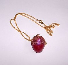 Swarovski Gold Plate Rose Button Quail Decorated Egg by annimae182