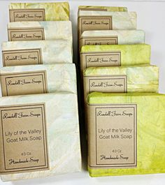 Lily of the valley. Goat milk soap. cold process,all natural soap,handmade,homemade soap,milk soap by Arlyn's  Creations, $5.40 USD