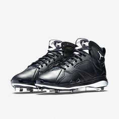 130fe2a79d7 NIKE AIR JORDAN 7 VII RETRO VII METAL BLK WHITE BASEBALL MEN CLEATS Sz 9  NEW 010  Nike  Cleats  baseballcleats