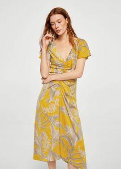 Φόρεμα φλοράλ ντραπέ | MANGO ΜΑΝΓΚΟ