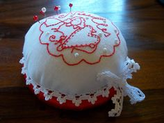 pin cushion...tilda embroidery design