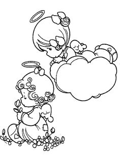 Angel Precious Moments Coloring Pictures - Precious Moments cartoon coloring pages