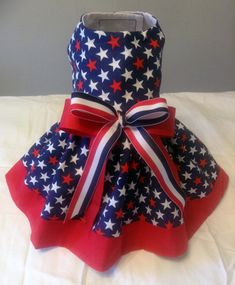 Stars Galore Patriotic Dog Dress by OurLove4Pets on Etsy