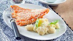 Teriyakilohi ja muhennetut wasabiperunat - K-ruoka
