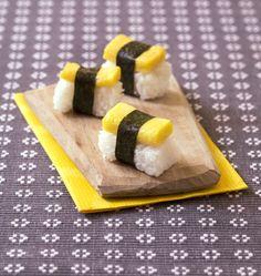 Sushis à l'omelette façon japonaise, la recette d'Ôdélices : retrouvez les ingrédients, la préparation, des recettes similaires et des photos qui donnent envie !