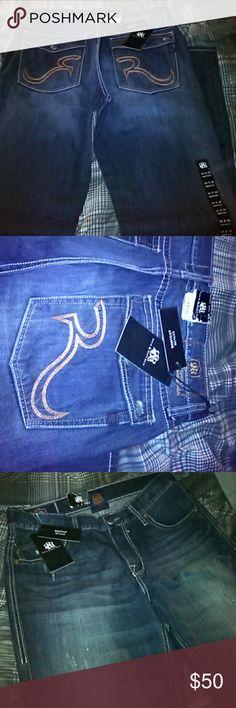 Brand new men jeans Flip button Pockets on back Rock & Republic Jeans Bootcut