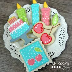 Birthday cookies by Funky Cookie Studio