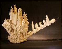 Meerschaum pipe.   Dude,  This one is AWESOME.